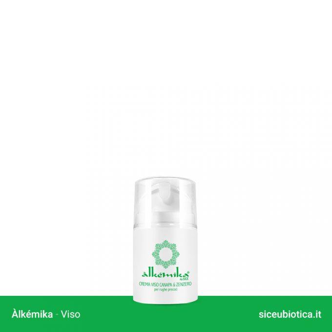 Linea Àlkémika Sice Eubiotica, Crema viso canapa e zenzero per rughe precoci