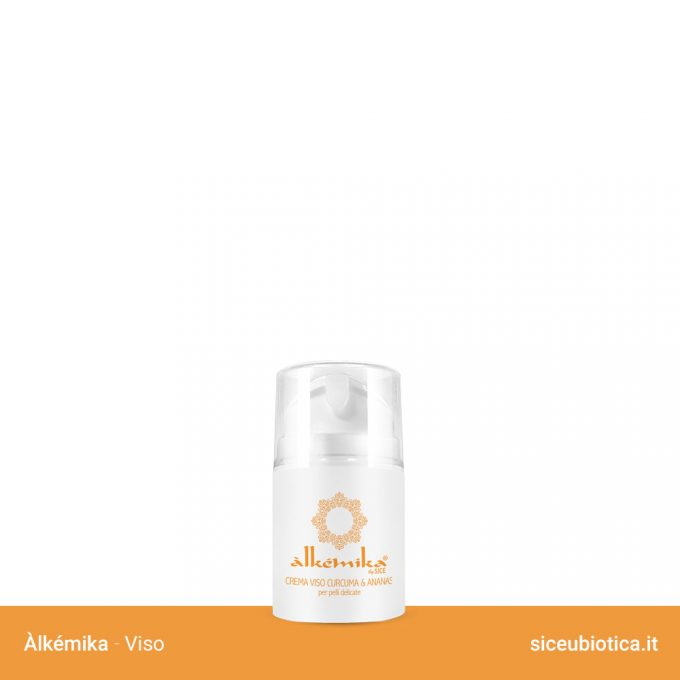 Linea Àlkémika Sice Eubiotica, Crema viso Curcuma e Ananas per pelli delicate