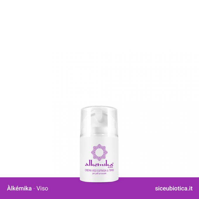 Linea Àlkémika Sice Eubiotica, Crema viso Eufrasia e Timo per pelli arrossate