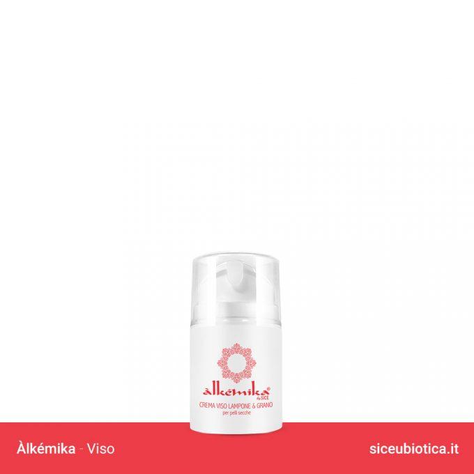 Linea Àlkémika Sice Eubiotica, Crema viso Lampone e Grano per pelli secche