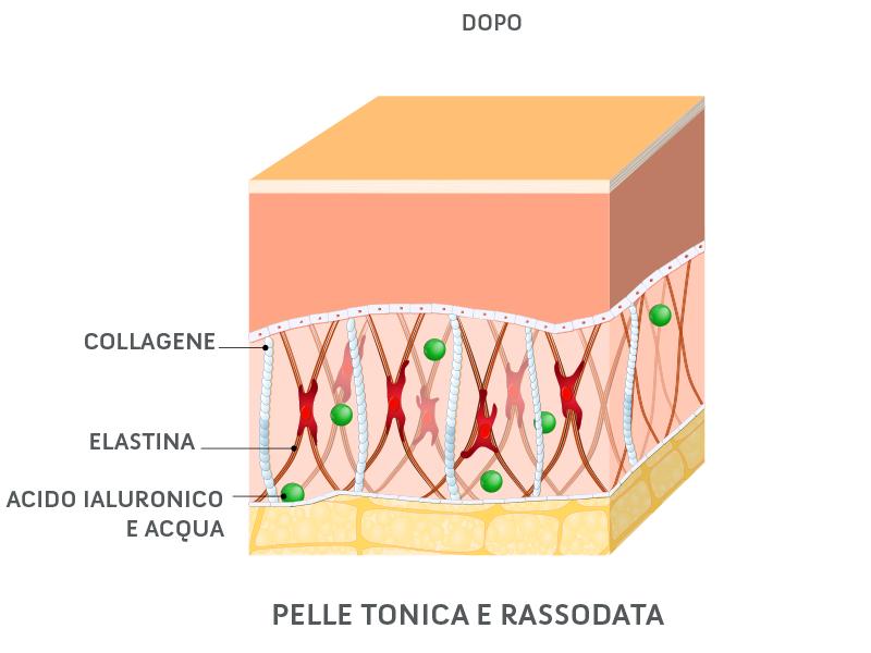 La pelle dopo l'applicazione di Aqua di Sice